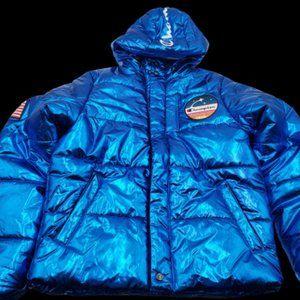 Champion x NASA Metallic Puffer Jacket Coat SMALL